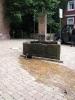 Abflußreinigungsaktion am Brunnen vor der alten kath. Kirche am 30.05 (1)