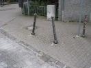 beschädigte Pfosten Anfang Kleingem.Straße 10.06.15
