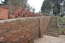 Mauer bei Treppe Gscheidle fertig - 27.01.2020
