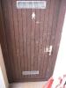 frisch reparierte Tür an öffentl. Toilette unter Edeka Markt 08.06.15